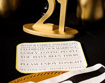 Gold Great Gatsby Table Numbers for Weddings & Events, Vintage Wedding Decor for Wedding Table Numbers, Art Deco Wedding (Item - NUM110)