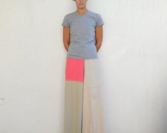 TShirt Pants Women's Palazzo Pants Wide Leg Pants Recycled Tee Shirt Pants Handmade Pants Cotton Pants Spring Summer Pants ohzie