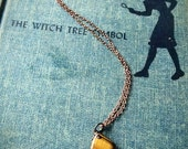 Tiger's Eye delicate pendant necklace