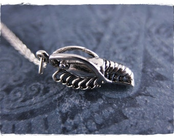 Silver Shrimp Necklace - Sterling Silver Shrimp Charm on a Delicate Sterling Silver Cable Chain or Charm Only