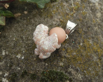 "Whimsical Pendant Miniature tiny Angel  full sculpt handmade ""Fairy Dolls"", ""collectible fairy dolls"", ""polymer clay dolls"""
