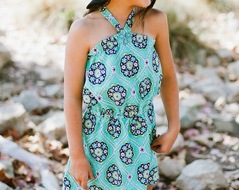 INSTANT DOWNLOAD- Jamaica Romper Top (Sizes 9/12 months to 12) PDF Sewing Pattern and Tutorial