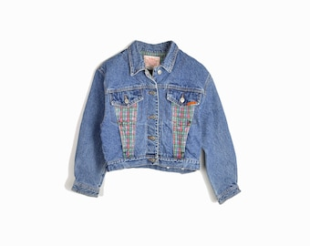 Vintage 90s Cropped Jean Jacket by Jordache - women's small