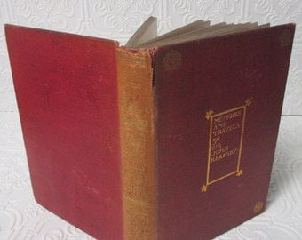 Memoirs and Travels of Sir John Reresby 1904  - RARE Antique Red Book