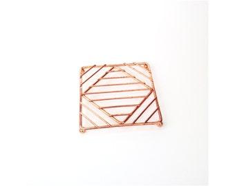 Vintage Geometric Copper Trivet