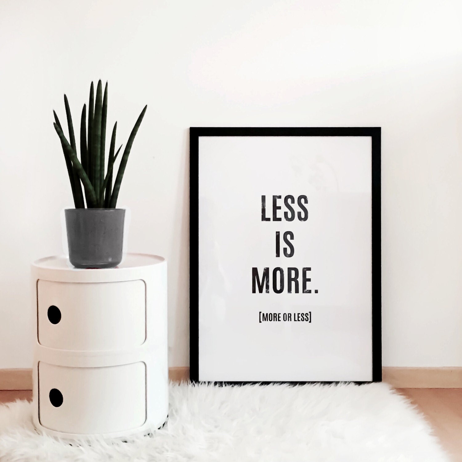 printable poster set of 3 less is more more or. Black Bedroom Furniture Sets. Home Design Ideas