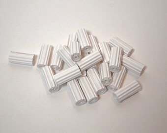 Unfinished Paper Beads made of corrugated cardboard in cylinder-shape