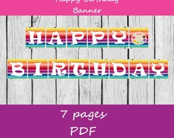 art party banner, art party decor, art party, birthday banner, art birthday printable,art birthday banner, painting party banner