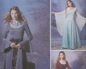 Simplicity 9891 Sz RR 14-20 UNCUT Costumes Pattern Renaissance/Medieval Dresses