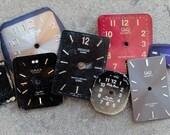Wrist Watch Faces --  rectangle -- set of 8 -- D7