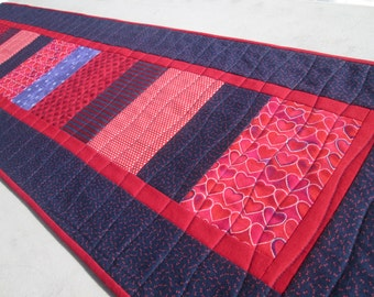 Quilted Patriotic Long Table Runner