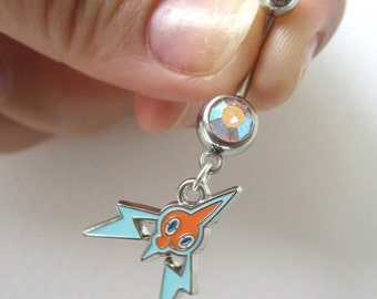 Pokémon Bellybutton Piercing - ROTOM - Belly iridescent botton jewelry - OFFICIAL Pokémon Center Charm