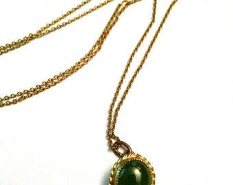 Jade + 12 Karat Gold Necklace // Delicate + Elegant