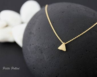 Minimalist Triangle Necklace in Matt Gold/ Silver. Simple and Chic. Understated Elegance. Timeless. Gift For Her. Unique Gift (PNL- 71)
