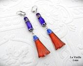 Egyptian Earrings Art Deco Earrings, Egyptian Revival Style Victorian Earrings, Bohemian Jewelry, Boho Victorian Jewelry Silver