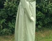 Regency Dress,Gown. Jane Austen. Olive Green/Ivory printed cotton.