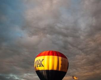 Hot Air Balloon At Sunset Photograph 8x10 Color Print Home Decor