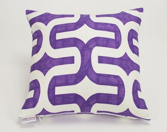 Thistle Purple Modern Embrace Throw Pillow Cover - 14 inch