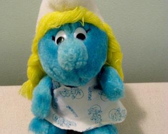 Vintage Smurfette Doll