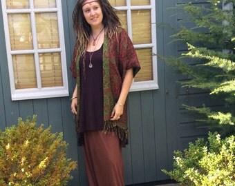 Paisley Kimono Jacket, Summer Pixie Jacket