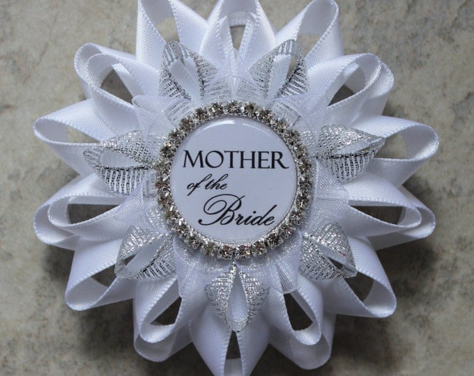 Mother of the Bride Gift, Mother of the Groom Gift, Bridal Shower Decor, New Bride Corsage, Bride to Be Pin, Bride to Be Sign, Stepmother