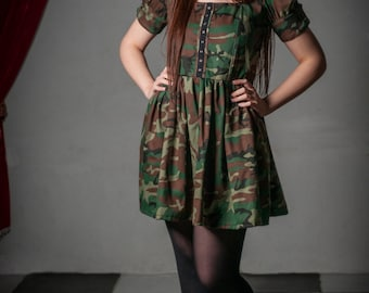 Camouflage Steampunk Military dress