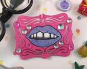 Purple Lippie Ornament