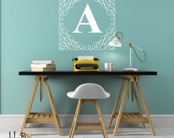 Wall Decal Letters Etsy - Monogram wall decals for business