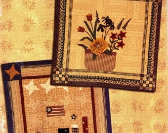 Kansas Troubles Quilters COLLECTION OF STITCHES Seasonal Folk Art Quilt Pattern Book c. 2001