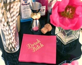 Drink Bitch Cocktail Napkins