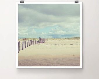 WaveBreaker - Fine Art Print Seaside Beach Wood Sky Clouds