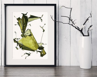 Fine Art Print, Abstract Print, Modern Abstract Painting, Contemporary Fine Art, Olive Green Painting, Original Abstract Art, GICLEE Print