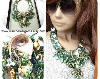Statement necklace , Mermaids Gem