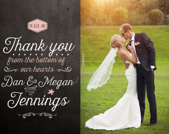 Wedding thank you cards etsy blackboard wedding thank you card design junglespirit Image collections