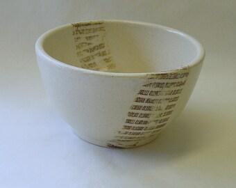 Binary Tears in Rain Lithographed Bowl