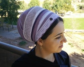 hair wrap,jewish,headcover,oshrat designs,chemo head scarves,tichel apron,chemo head covering