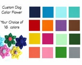 Dog Collar Flower, Flower Dog Collar, Flower for Collar, Dog Collar Accessory, Fabric Flower, Collar Flower, Custom Dog Collar Flower