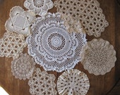 Doilies Doily Lot of 9 Handmade Vintage Antique Crochet