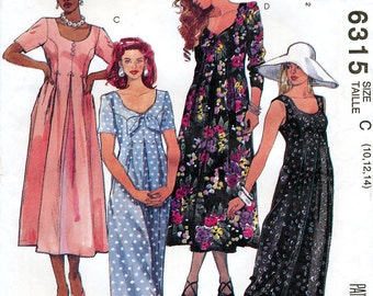 McCall's 6315 Misses' Jumpsuit and Dress Sewing Pattern - Uncut - Size 10, 12, 14
