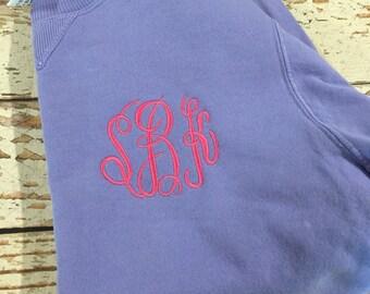 Monogrammed sweatshirt, ladies sweatshirt, crewneck, plus size clothing, Christmas gift for her