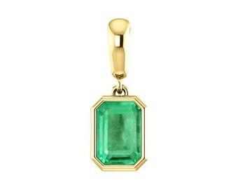 1.10cts Emerald Cut Natural Emerald Necklace, Emerald Emerald Cut Pendant, Columbian Emerald, Dainty Gemstone Necklace, Engagement Gift