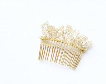 First Snow Swarovski Ceylon Topaz Crystals Hairpiece