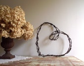 Barbed Wire Heart Wreath / Heart Wall Hanging / Rustic Farmhouse Chic / Industrial Decor / Country Wedding Decor / Valentine's Day