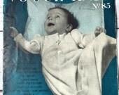 Vintage 1940s Vogue Baby Knitting Pattern