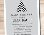 Teepee Boho Baby Shower Invitation Pow Wow Aztec - Printable digital file or printed file