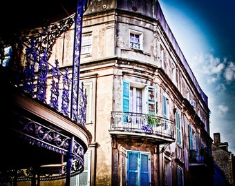 Where for Art There? NOLA Royal St. Balcony,  New Orleans Photography, French Quarter, Architecture Photography, Travel Photography, Urban