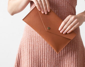 SPRING SALE Brown Leather Pouch No. ES-3005