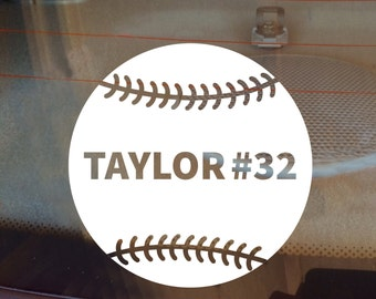 Baseball Decal, Softball Decal, Personalized Baseball Decal, Personalized Softball Decal, Sports Decal, Laptop Sticker, Laptop Decal, Decal