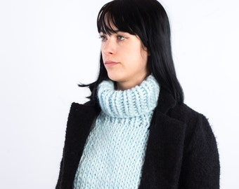 The Dickie turtleneck (modern vintage) (in L. Bluel) /// cowl, warmer, cozy