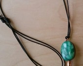 NEW for the HOLIDAYS - Turquoise and Malachite Long Pendant